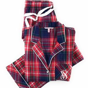 Victoria's Secret flannel pajamas set